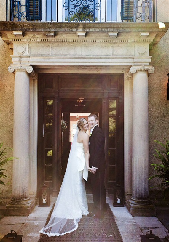 Wedding Veil Styles: The Ultimate Guide (Part One) - floor length veil by veil artistry, photo by melani lust