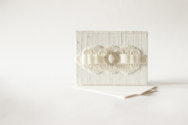 Lace Wedding Vow Holders