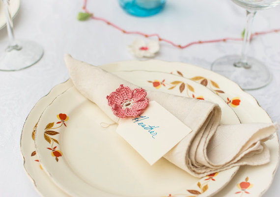 Napkin Rings for Weddings - napkin rings by bobbi lewin