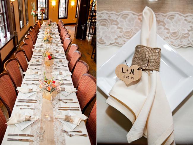 weddingreceptiontableandnapkinrings - Maryland Handmade Wedding