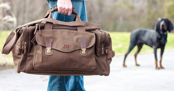 weekend bag with personalization