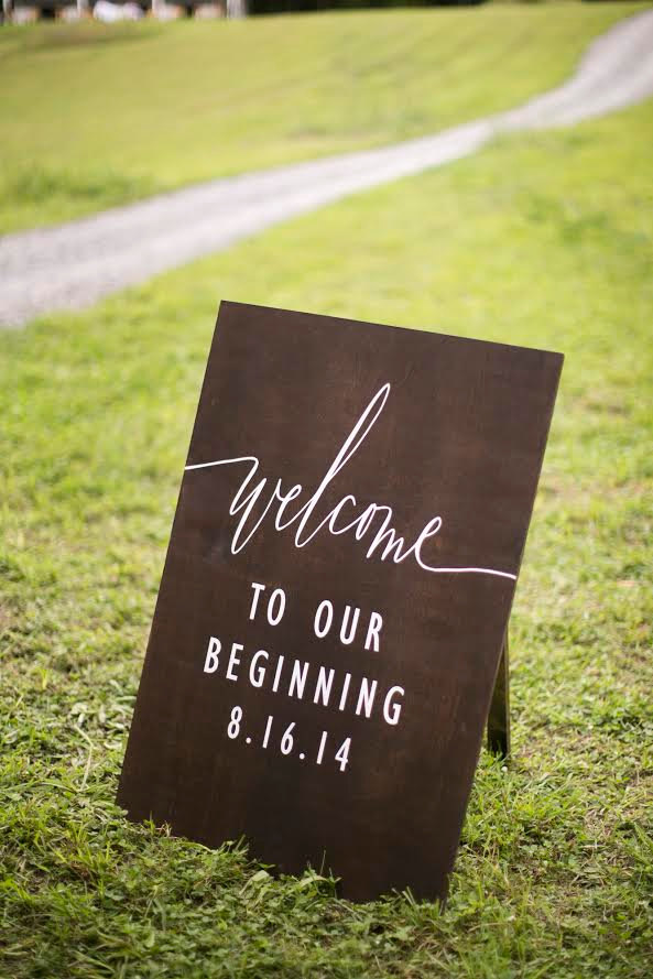 welcome to our beginning wedding sign by sweetnccollective
