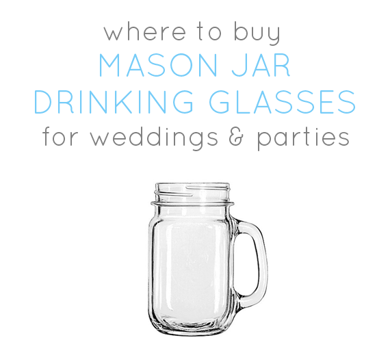 Where to Buy Mason Jar Drinking Glasses (w/ Handles)