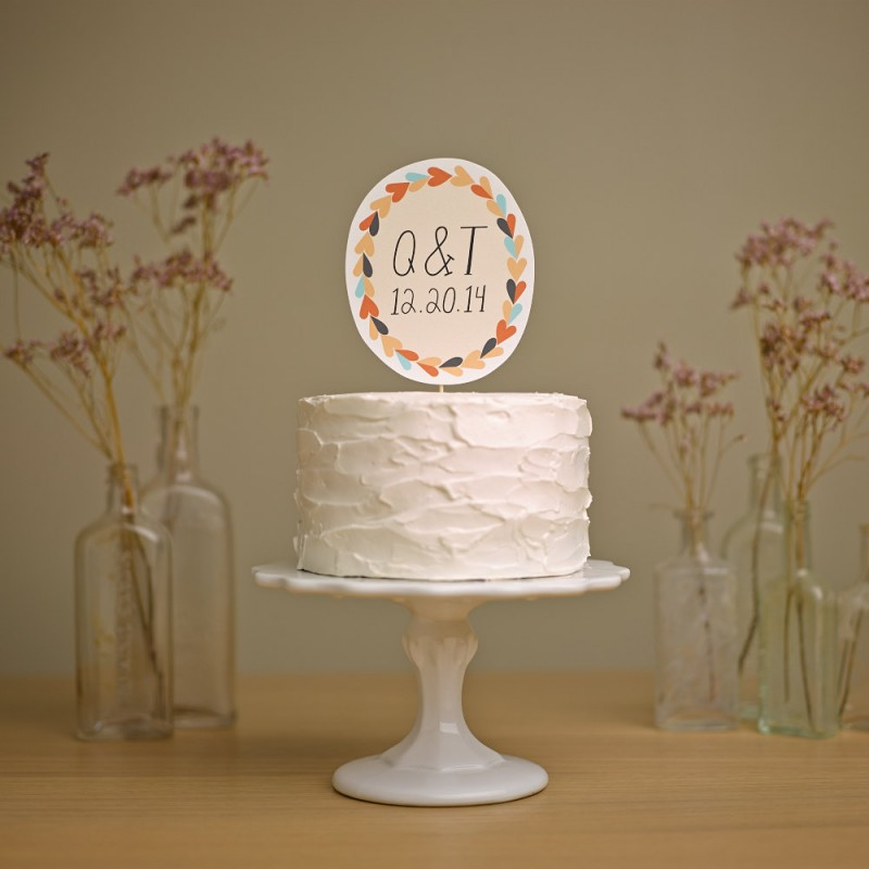 whimsical paper cake topper