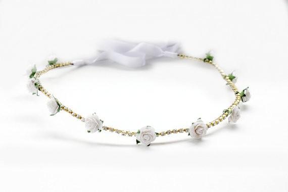 white floral - spring wedding crowns | via http://emmalinebride.com/bride/spring-wedding-crowns/