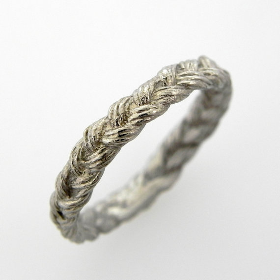 white gold braided wedding band via 7 Alternative Wedding Ring Ideas