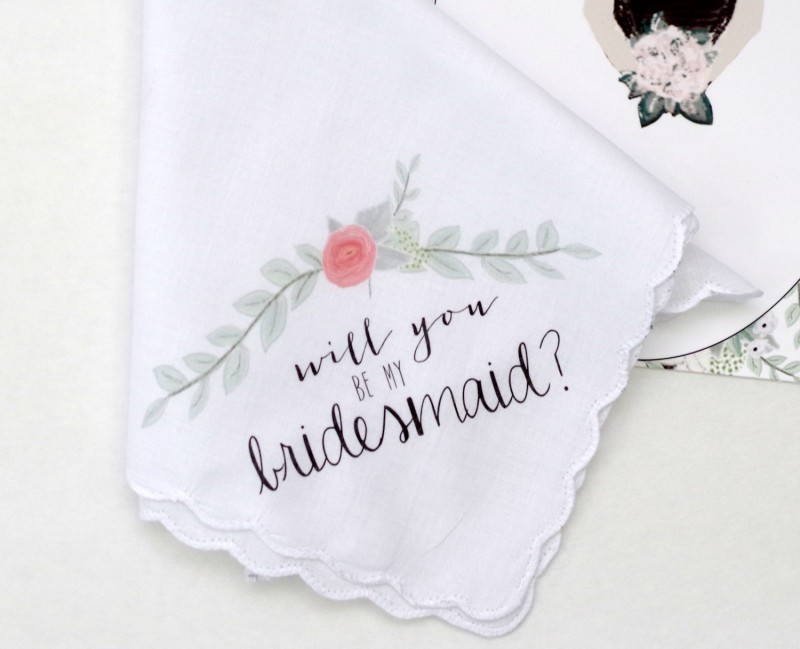 Be My Bridesmaid Handkerchief