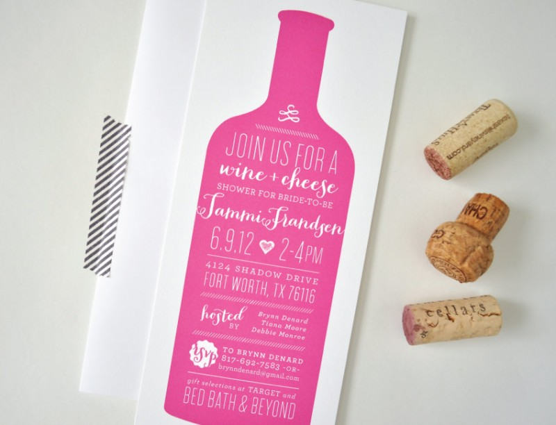 wine bachelorette party invitation by laurenchismpaper