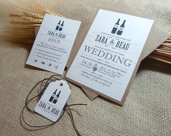wine wedding invitation - Invitations for Wedding Themes
