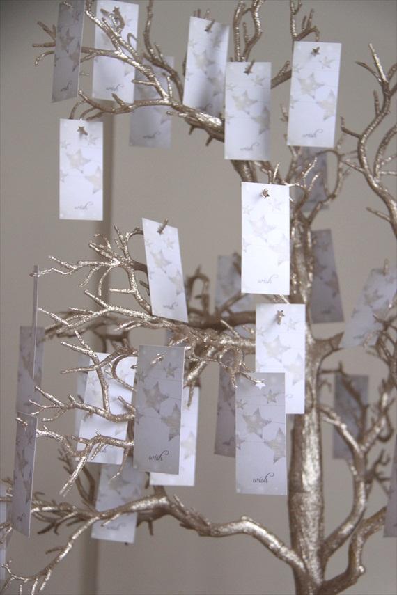wish tags from manzanita tree - Wedding Wish Tree