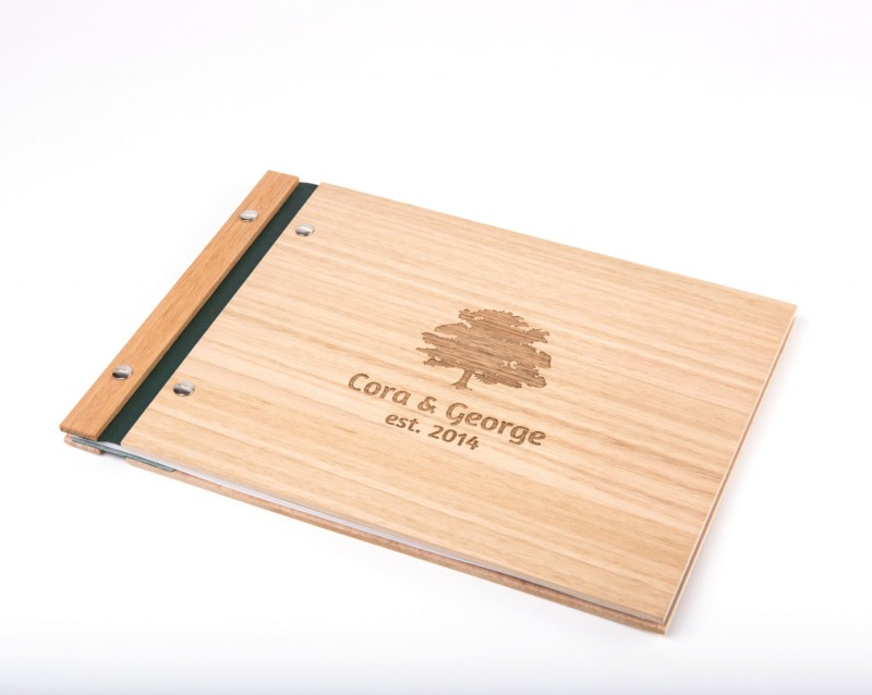 wood guest book by lorgie