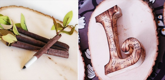 Wooden Guest Book Letter (by Roxy Heart Vintage)