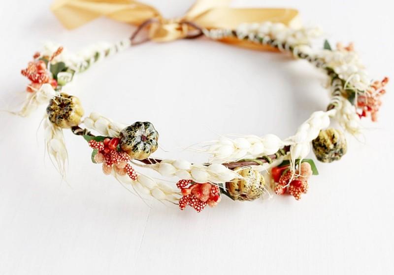Woodland Inspired | Flower Girl Hair Crowns | https://emmalinebride.com/flower-girl/hair-crowns/