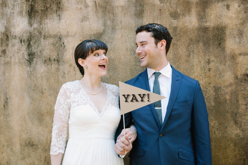 Yay Photo Prop - Bride and Groom