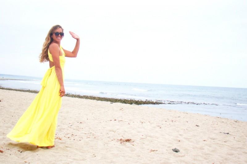 yellow bridesmaid dress | daisy ideas theme weddings
