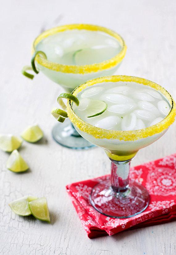 yellow margarita salt for margarita bar wedding setup