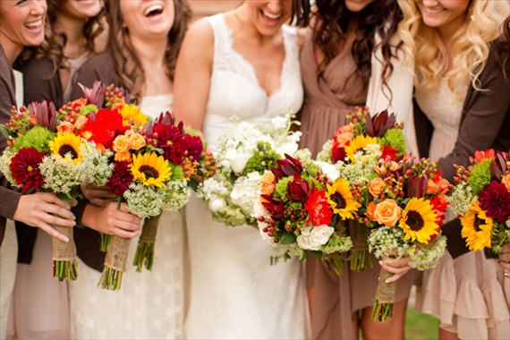 Rustic Fall Ceremony Ideas - bouquets (photo by katelyn james)