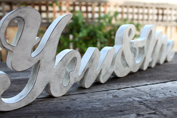 wedding gift ideas from a to z - you and me wood sign by i tag studios